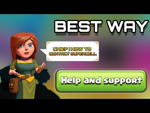 How To Contact Supercell ( CLASH OF CLANS ) In Game Or Out Game Help And Support