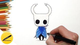 How to Draw Hollow Knight (Hollow Knight Game) Step by Step