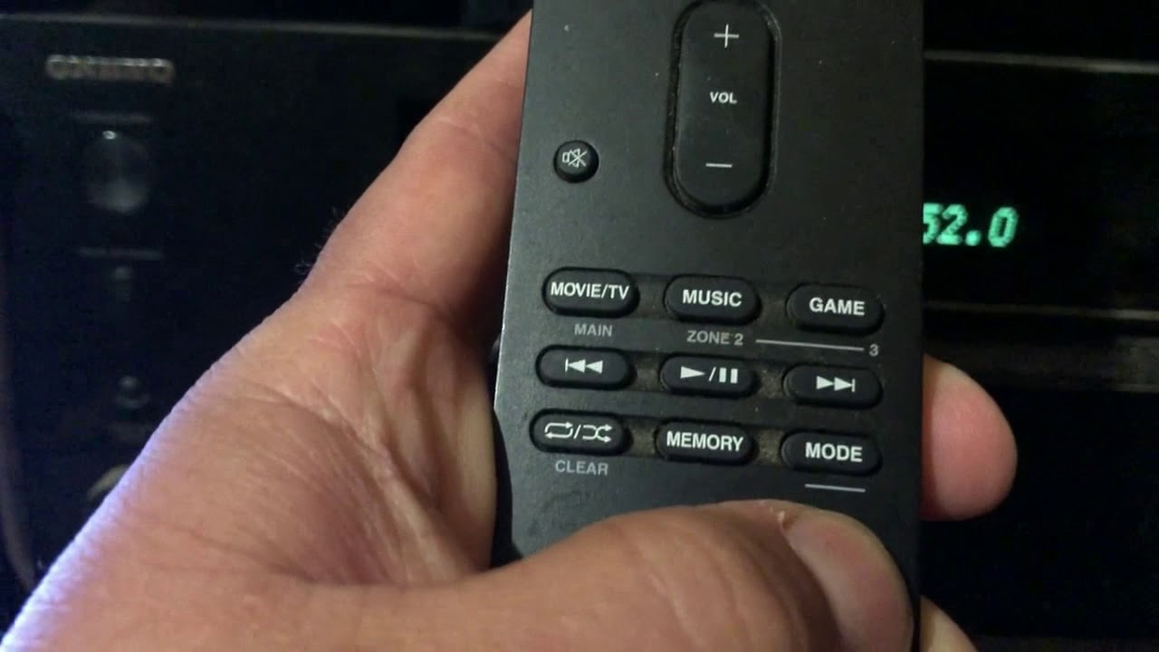 HOW TO RESET YOUR ONKYO RC 911R REMOTE & ONKYO TX NR757 AV RECEIVER