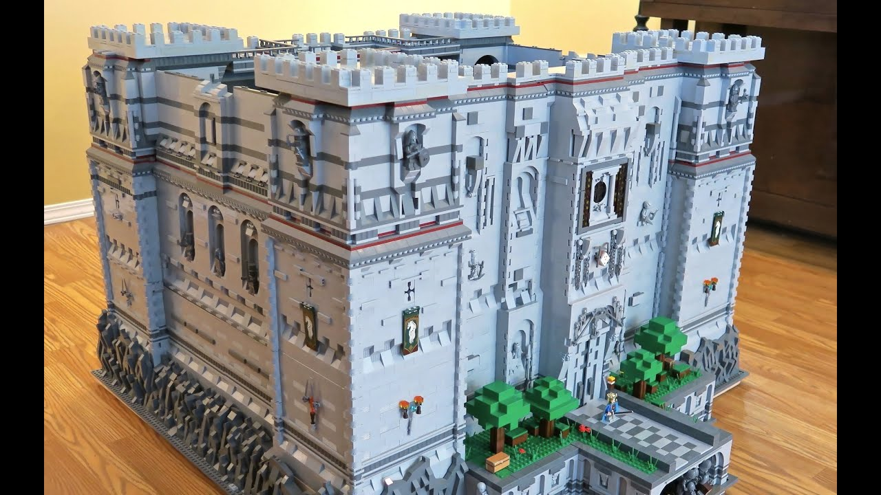Lego minecraft steve 39 s castle youtube for Build a castle home
