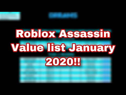 Roblox Assassin Official Value List Videos Ytubetv Roblox Assassin Value List January 2020 Link In Description Below Youtube