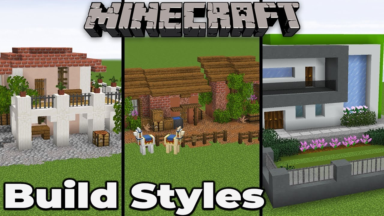 How To Build Different Styles In Minecraft 1 14 Tips And Tricks Youtube