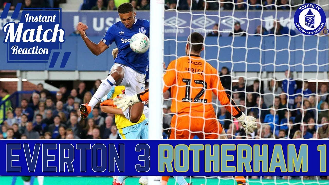 Everton 3 1 Rotherham United Dcl Fires Blues To Victory Youtube