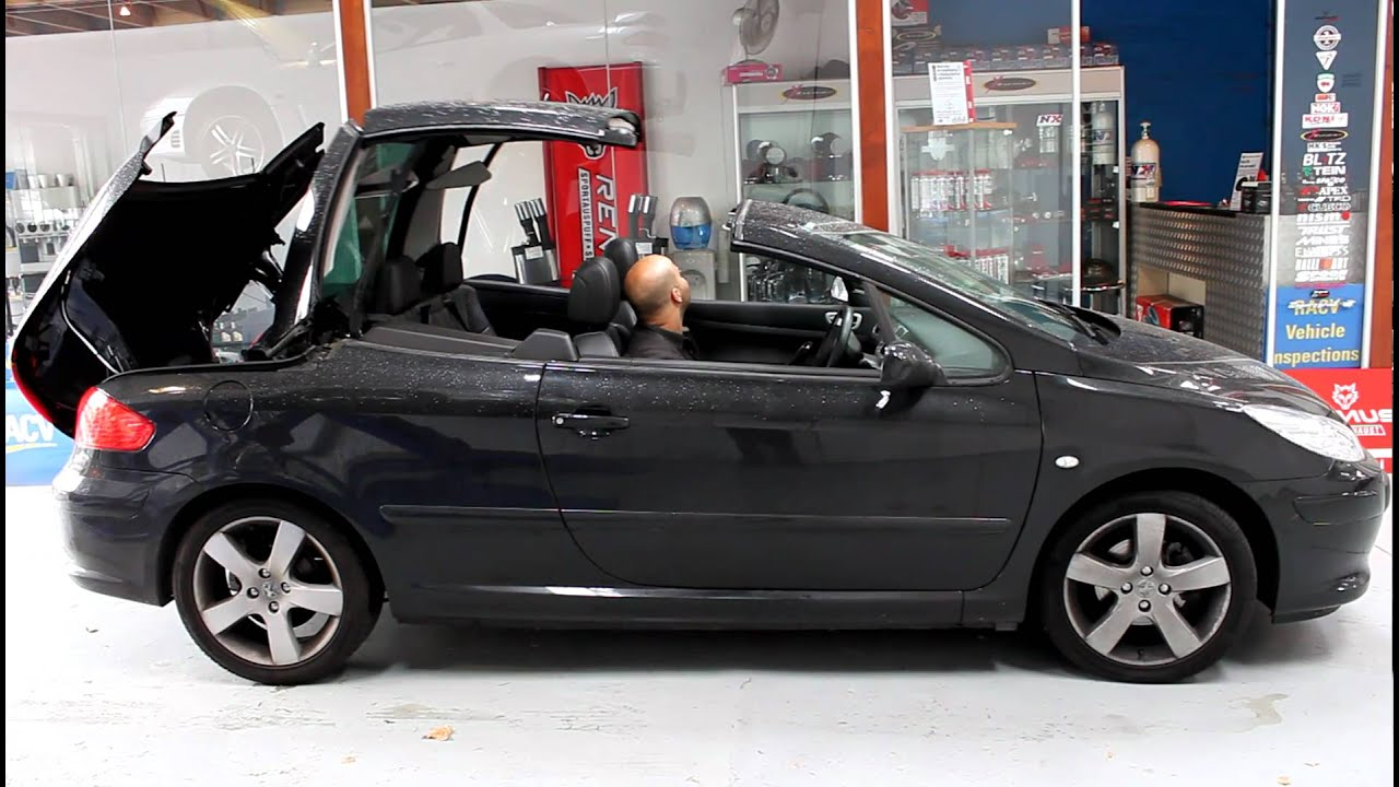 peugeot 207 convertible mathew testing roof operation youtube. Black Bedroom Furniture Sets. Home Design Ideas