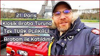 TR pilakali aracım MURAT 124  ile Paris'te klasik araba turuna katıldım