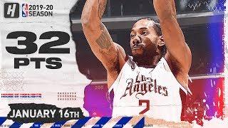 Kawhi Leonard 32 Points Full Highlights | Magic vs Clippers | January 16, 2020