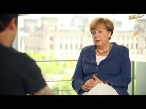 Die Bundeskanzlerin im Interview mit LeFloid