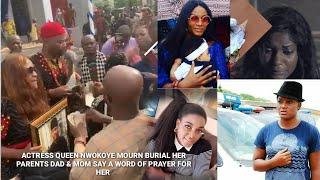 Queen Nwokoye39s DAD39S BURIAL  QUEEN Nwokoye Mourns Dad amp Mom