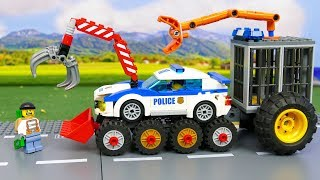 Lego Stories with Motorbike, Police Cars, Trucks & Experimental cars | Toy Vehicles for Kids