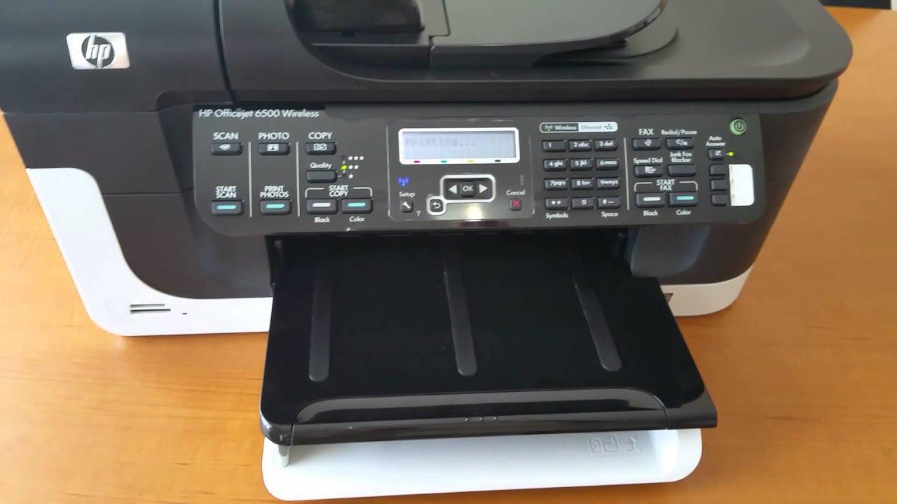 Hp Officejet 6500 Wireless E709n Youtube