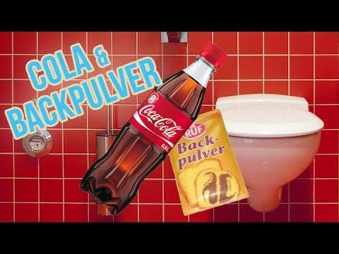 Toilette reinigen mit Cola und Backpulver | WC putzen mit Hausmittel