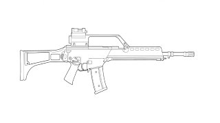 How to Draw an Assault rifle hk g36 / Как нарисовать Автомат hk g36(Drawing Channel - https://www.youtube.com/channel/UCaZm6IvtL9zNeDwQi571asA/videos Канал для рисования ..., 2015-04-18T10:04:58.000Z)