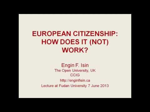 'European Citizenship: How does it (not) work?', presented by Engin Isin at Fudan University