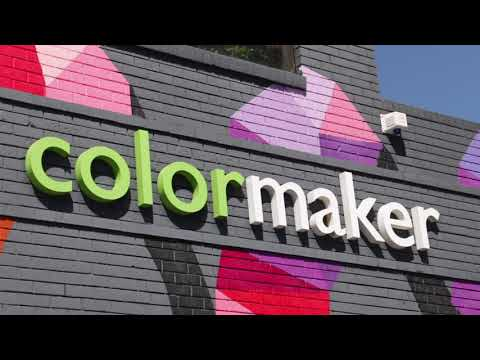 Preparing Paint Colours & Painting The Colormaker Industries Mural In Brookvale, Sydney