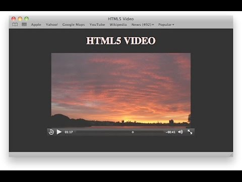 How to Add HTML5 Autoplay Video 2016