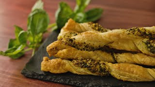How to Make Pesto Puff Pastry Twists  Hungry AF