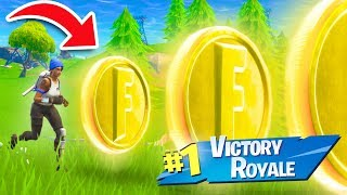 CAN YOU WIN USING ONLY COINS?? | Fortnite Battle Royale