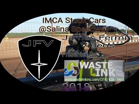 IMCA Stock Cars #4, Heat 3, Salina Speedway, 2018