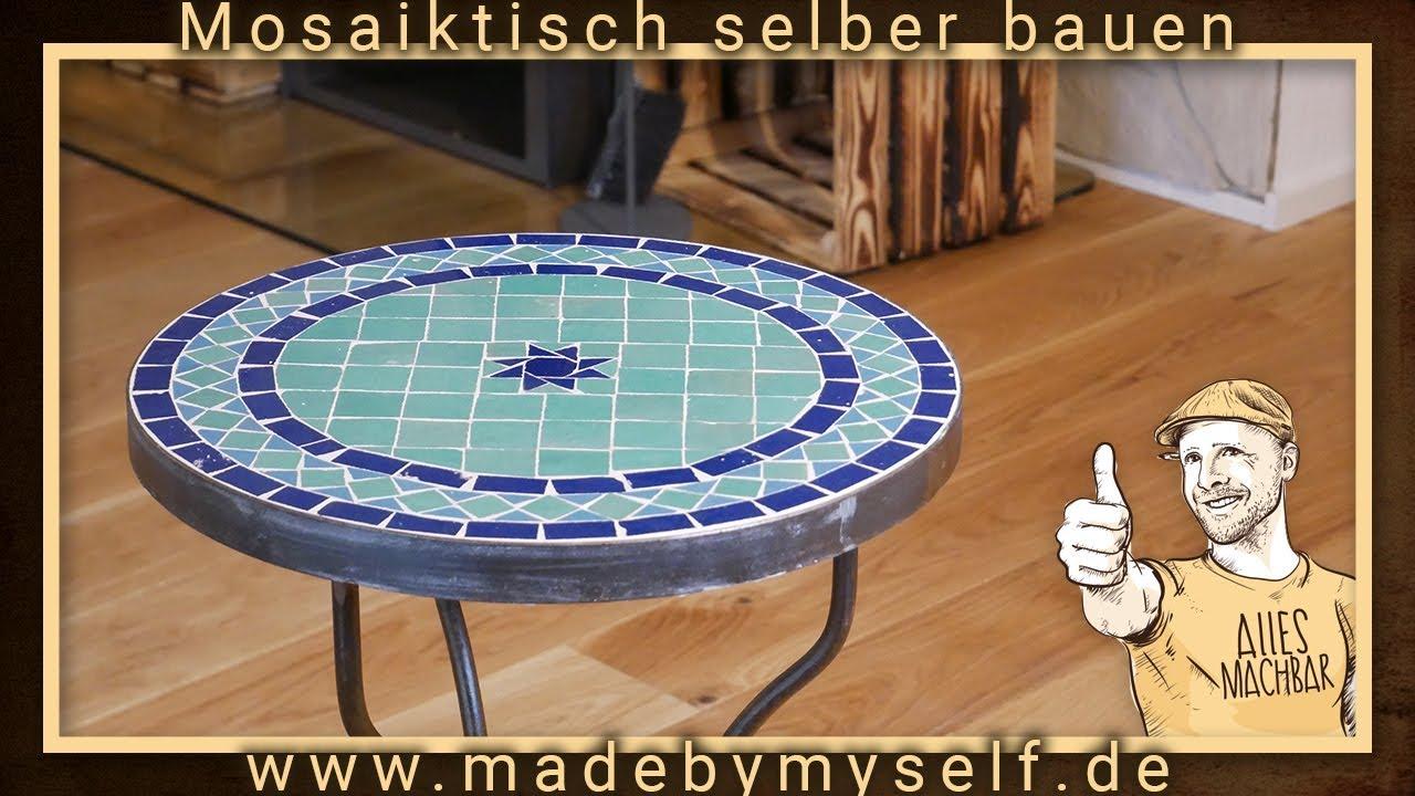 mosaiktisch tisch aus mosaik selber machen bauen beistelltisch wohnzimmertisch gartentisch youtube. Black Bedroom Furniture Sets. Home Design Ideas