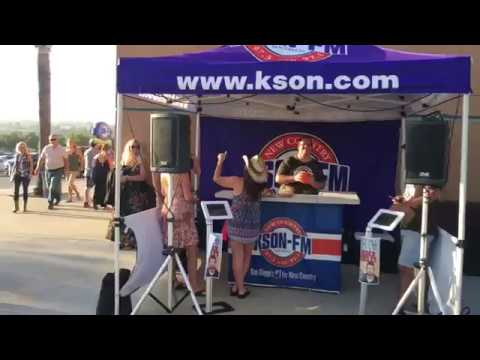 KSON Using the Anchor Audio Liberty portable sound system at the Sam Hunt Concert
