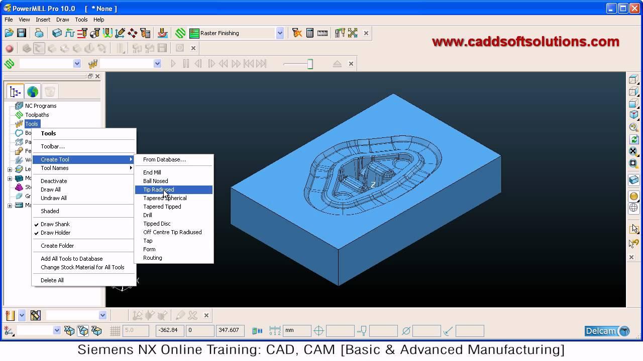 Delcam PowerMILL Training Tutorial - 2 - YouTube