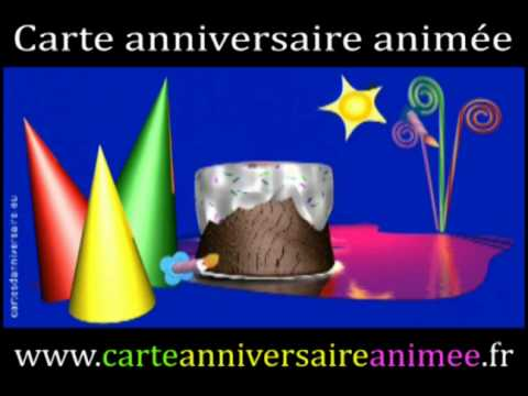 Carte Anniversaire Animee Youtube