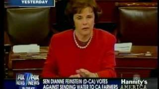 090923 Senator Dianne Feinstein votes against sending water to California Farmers - 1:18
