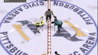 NHL Face off 99 (PLAYSTATION) Pittsburg vs San Jose