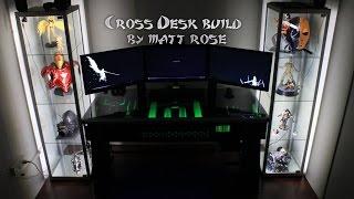Red Harbinger Cross Desk build by Matt Rose