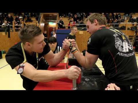 Glenn Bengtsson vs Robert Rodin - Swedish Nationals in Armwrestling 2018 (EPIC FIGHT!!)