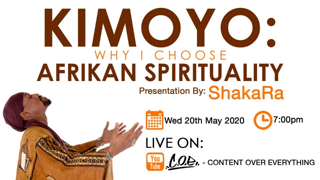KIMOYO: Why I Choose African Spirituality; Live Presentation By The Afrikan Teacher ShakaRa!