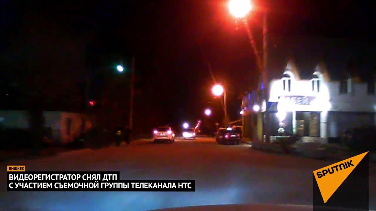 Момент аварии в Бишкеке попал на видеорегистратор