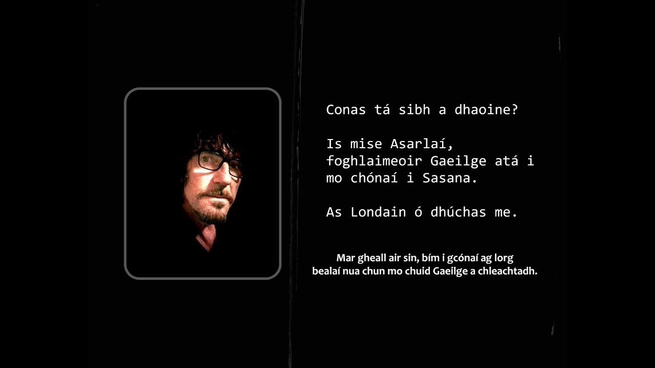 As Gaeilge