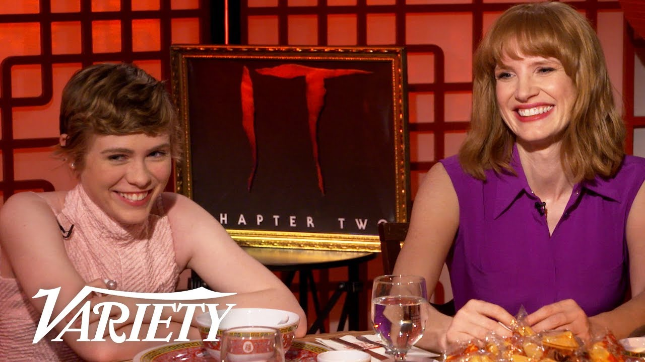 Download Jessica Chastain & Sophia Lillis Swam In Fake Blood for 'It: Chapter Two'