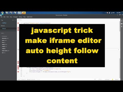 javascript trick   make iframe editor auto height follow content
