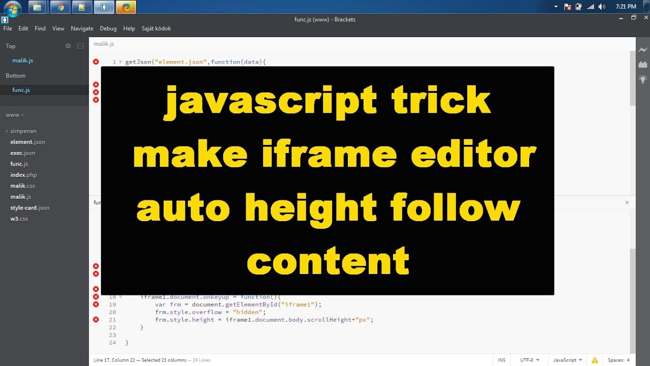 javascript trick make iframe editor auto height follow content - YouTube