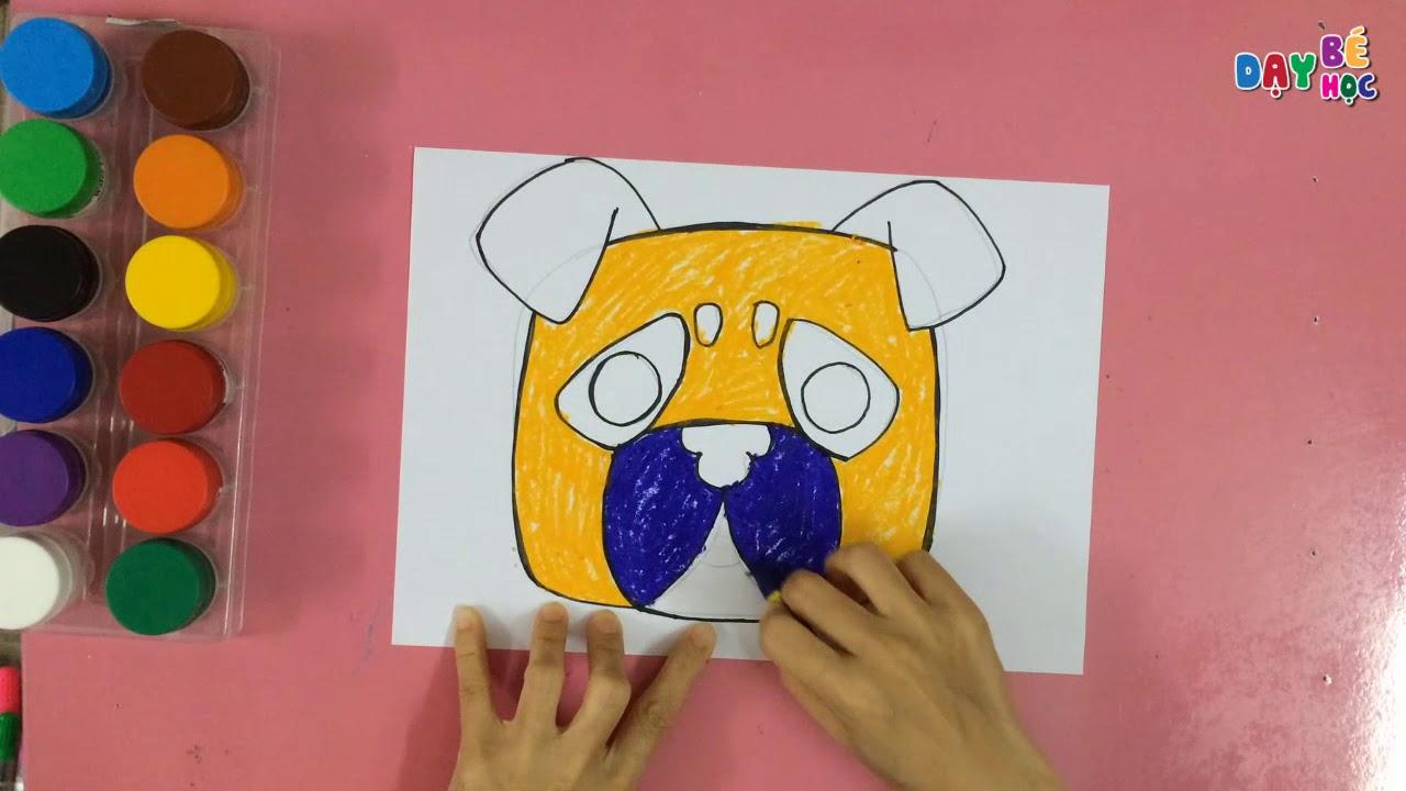 Làm đồ chơi trung thu   Cách vẽ mặt nạ con vật chó cho bé   Dạy bé học