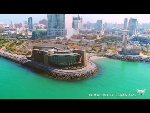 dji phantom 4 pro + ( 4k ) from kuwait city sky - يابلادي  الكويت