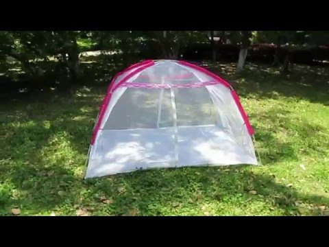 2 Man Pink Color Summer Use Mesh Tent Bed Tent. Pop Up Outdoor & 2 Man Pink Color Summer Use Mesh Tent Bed Tent - YouTube