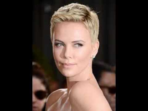 Charlize Theron Haircut hairstyle pictures gallery - YouTube