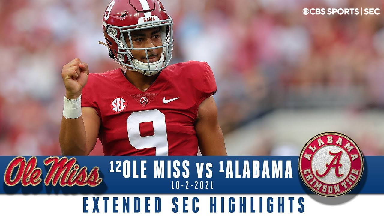 #1 Alabama vs #12 Ole Miss: Extended Highlights | CBS Sports HQ
