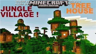 MCPE 1.2 ~ OMG ~ AMAZING JUNGLE TREEHOUSE VILLAGE | CITY MAP !  | JUNGLE TEMPLE | MINECRAFT PE