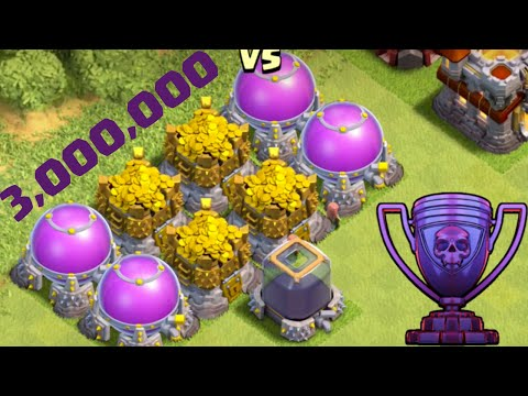 Biggest Raid in Clash of Clans HISTORY - 3 MILLION Resources!