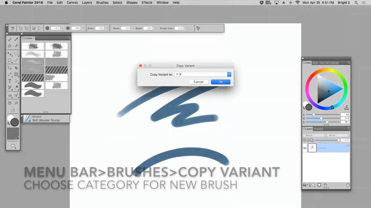 How to use brush looks (corel painter tutorial) youtube.