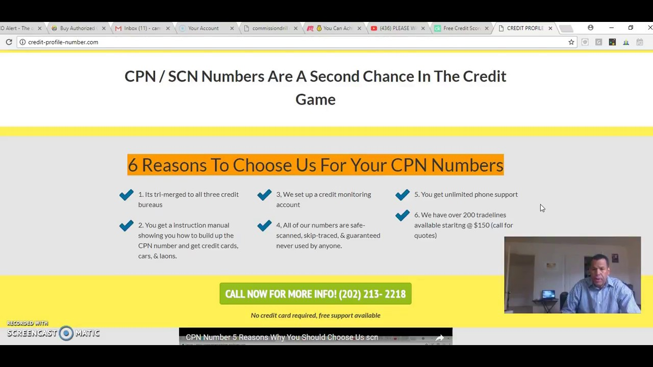 cpn number with tradelines get a 750 credit score proof posting video only  $375 2018