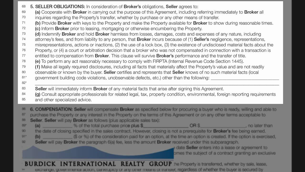 Florida Listing Agreement   Burdick International Realty Inc   YouTube
