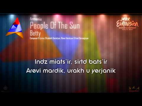 "Betty - ""People Of The Sun"" (Armenia) - [Karaoke version]"
