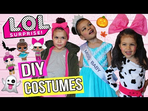 EASY DIY How to Real Life L.O.L Doll BEST Halloween Costumes Makeover, Cozy Babe, Diva, Miss Baby