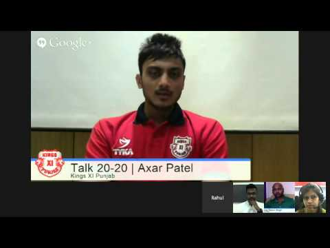 #KXIPHangout Talk 20-20 with Akshar Patel