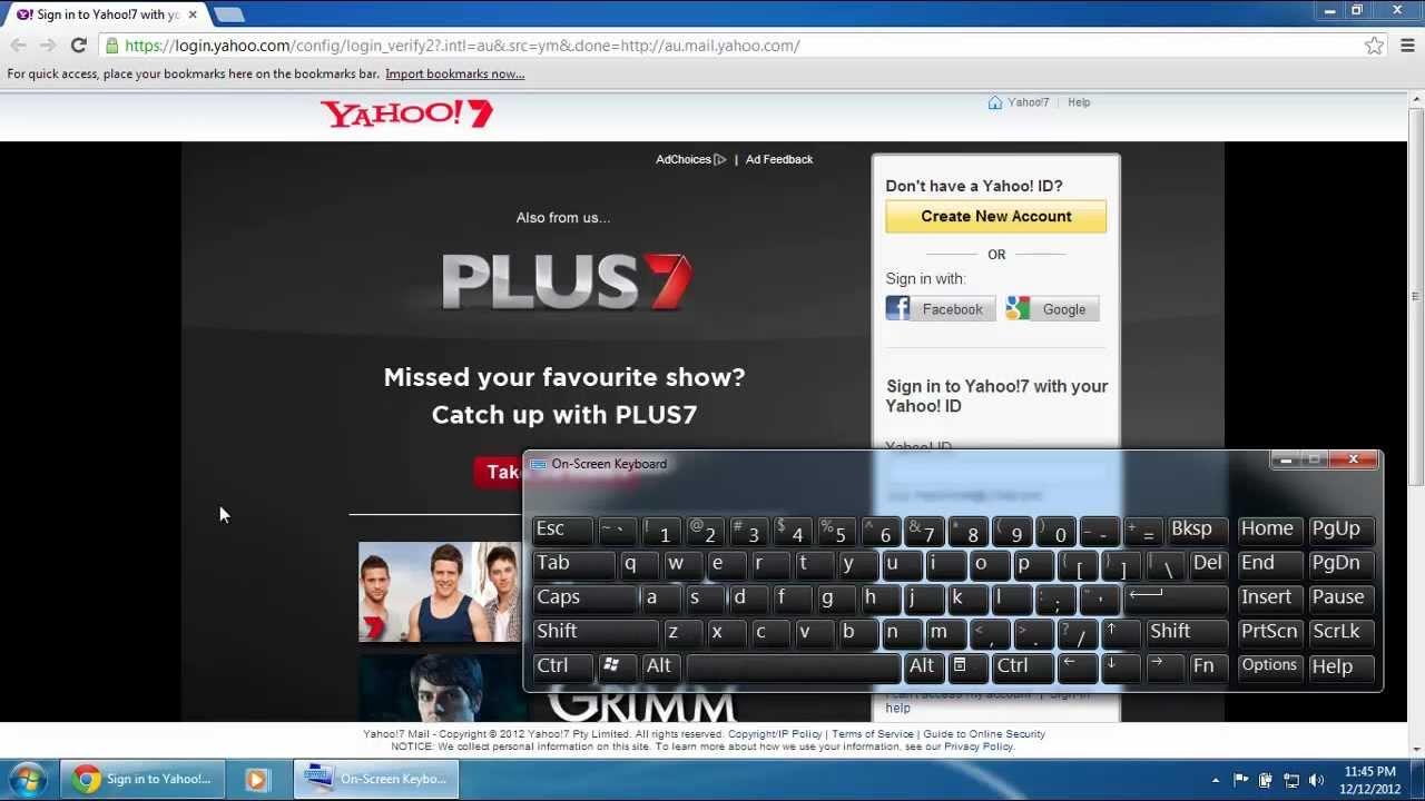 www yahoo com au login